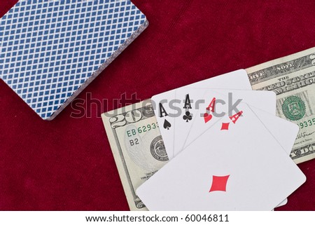 Four Aces Winning Hand Concept - stock photo