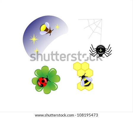 four bugs - stock photo