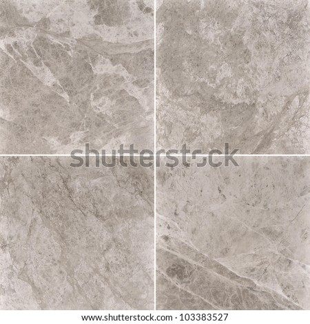 Four different beige marble texture. (high.res.) - stock photo