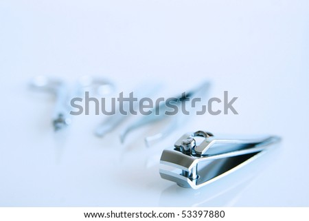 Four different items for a perfect manicure - stock photo