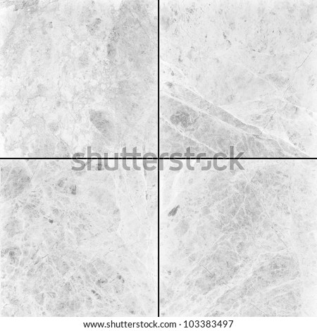 Four different white marble texture. (high.res.) - stock photo