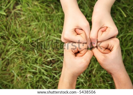 four fists - stock photo