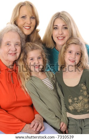 four generations picture vertical - stock photo