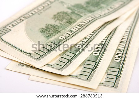 Four hundred dollars - stock photo