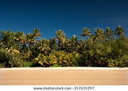 Four Miles Beach, Port Douglas, Queensland, Australia - stock photo