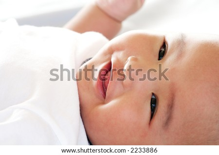 Four Month Old Asian Baby Boy - stock photo