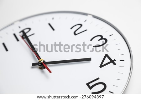 Four o'clock - stock photo