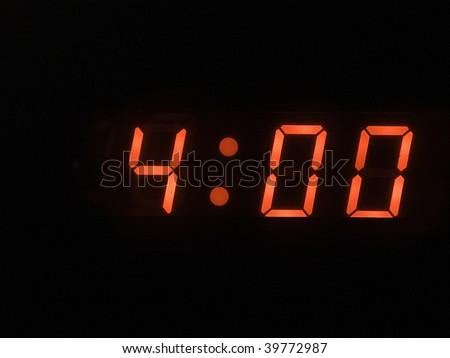 four o clock am - stock photo