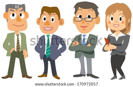Four office workers - stock photo