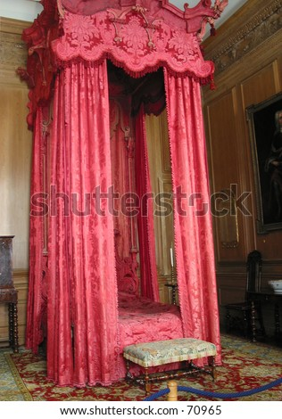 Four-Poster Bed - stock photo
