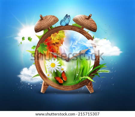Four Seasons - Time concept design - stock photo