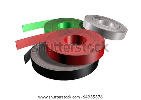 four tapes for edging furniture illustration - stock photo