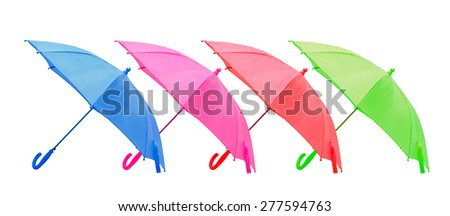 four umbrellas the isolated - stock photo