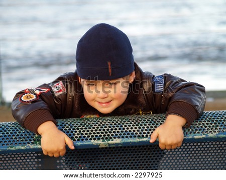 four years boy - stock photo