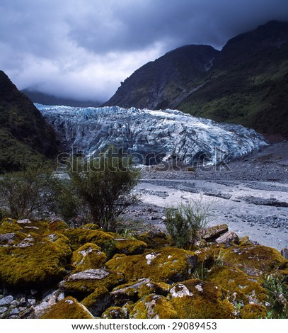 Fox Glacier - stock photo