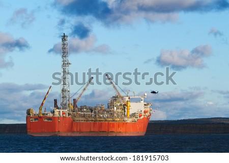 FPSO oil production vessel - stock photo