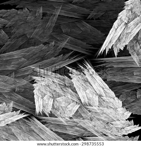 fractal abstract  black and white  - stock photo