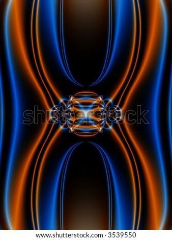 fractal abstract depicting a chromosome - stock photo