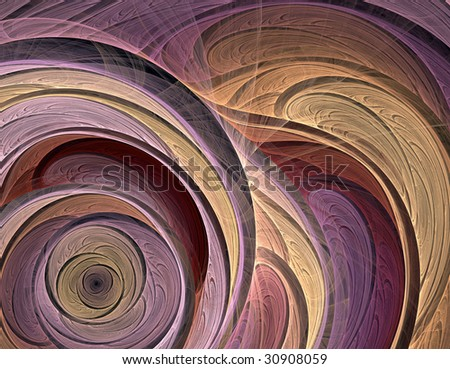 Fractal abstract illustration of a sophisticated flower spiral - stock photo