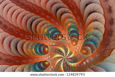 Fractal background with abstract shapes. High detailed image. - stock photo