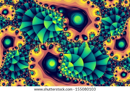 Fractal colony: colorful abstract illustration - stock photo