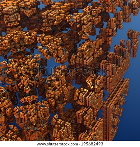 Fractal Cubic - stock photo