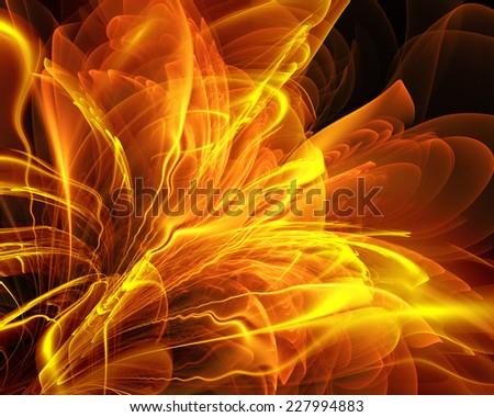 fractal gold fantasy - stock photo