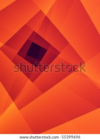 Fractal image depicting an abstract World Wide Web. - stock photo