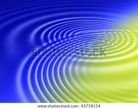 Fractal image of abstract colourful water ripples. - stock photo