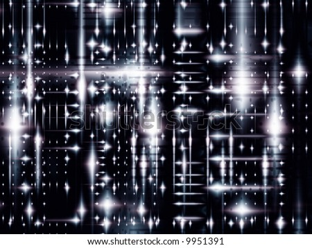 Fractal image of an abstract representation of future technology. - stock photo