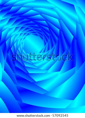 Fractal image of an abstract tunnel vortex background. - stock photo