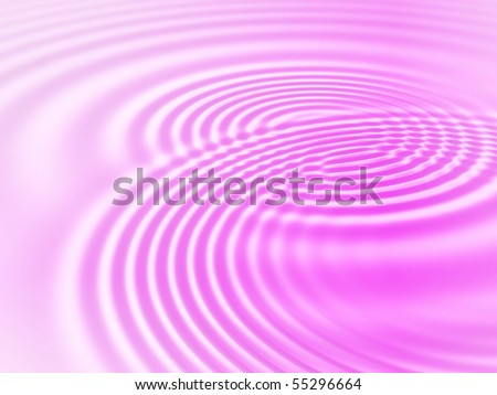 Fractal image of pink concentric ripples for a background. - stock photo
