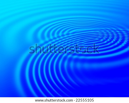 Fractal image of water ripples on a swimming pool for a background. - stock photo