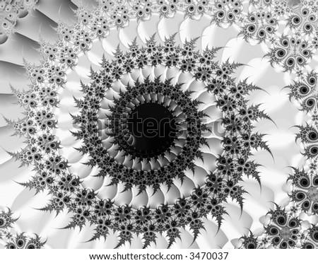 Fractal rendition of a human eye - stock photo