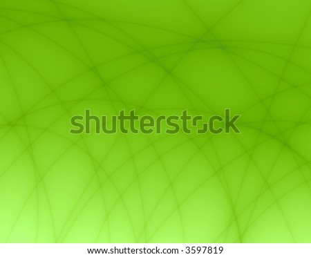 Fractal rendition of an green abstract net - stock photo