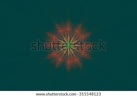 Fractal Snowflake - stock photo