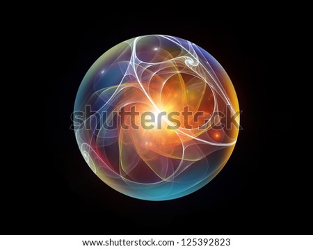 Fractal Sphere Series. Background design of spherical and circular fractal elements on the subject of abstraction, graphic design and modern technology - stock photo