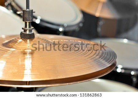 Fragment drums - stock photo