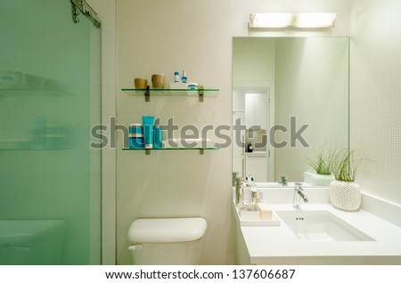 Fragment of a luxury bathroom - stock photo