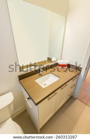 Fragment of a luxury bathroom - stock photo