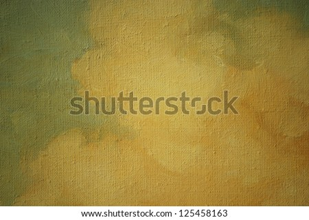 fragment of an ancient picture, painting by oil on canvas, illustration - stock photo