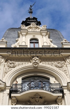 Fragment of Art Nouveau style (Jugenstil) - stock photo