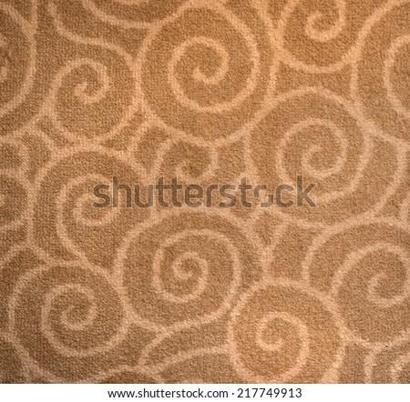 Fragment of decorative carpet fabric pattern. - stock photo