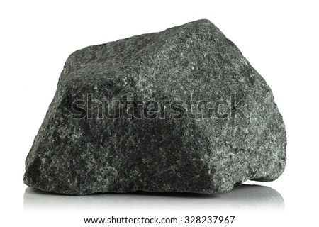 Fragment of granite on a white background - stock photo