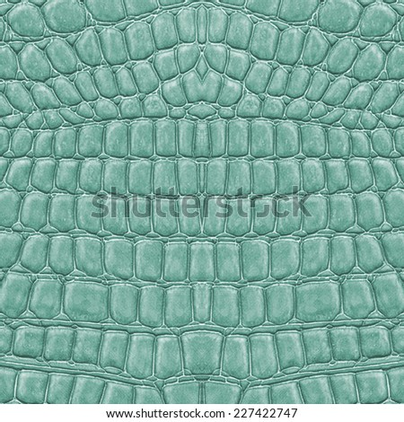 fragment of green-blue reptile skin texture - stock photo