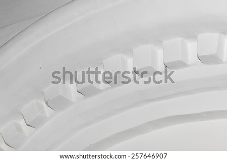fragment of Old aged plastered arch  - stock photo