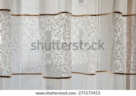 fragment of the beautiful curtains - stock photo