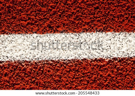 fragment of the Running track  - stock photo
