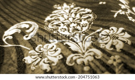 Fragment retro tapestry textile pattern with  ornament useful as background - stock photo
