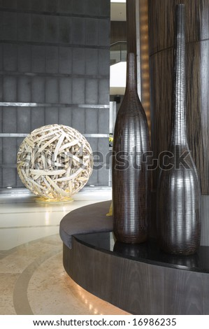 Fragment view of nice new  modern stylish  interior - stock photo